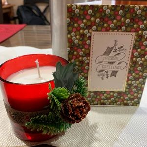 Essential oil natural wax xmas candle and card